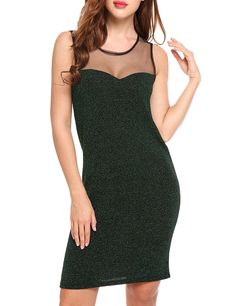 1a3ec65d2be7 Amazon.com: HOTOUCH Women sleeveless Sequins Sparkle Tank Party Club  Bodycon Dress: Clothing
