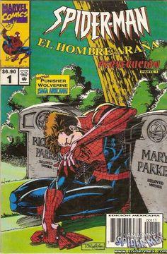 Spider-Man - El Hombre Araña vol 2 # 1 :: Portada por Tom Lyle [Spider-Man # 45] Número uno publicado por Marvel México; 1996.
