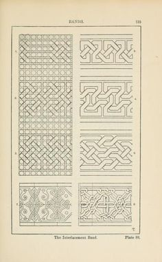 A handbook of ornament Bands page 139 the interlacement band