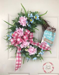 Spring Wreath for Front Door, Spring Flower Wreath, Spring Grapevine Wreath, Easter Wreath, Porch Decor, Outdoor Wreath by MosquitoCreekCrafts on Etsy https://www.etsy.com/listing/574128548/spring-wreath-for-front-door-spring