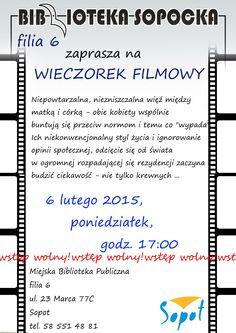 Wieczorek Filmowy! #film #movie #bibliotekasopocka #mbpsopot #sopot