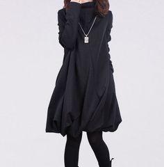 Costume coréen à manches longues piles de collier plier jupe lâche grande taille femmes