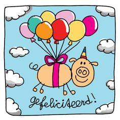 Babette Harms Happy Birthday Pig, Birthday Qoutes, Birthday Wishes, Birthday Cards, Pig Drawing, Pig Illustration, Drawings, Blond Amsterdam, Kids