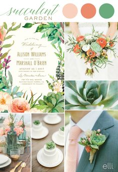 Succulent garden wedding theme and invitations Bohemian Wedding Invitations, Botanical Wedding Invitations, Beautiful Wedding Invitations, Floral Wedding Invitations, Wedding Stationery, Prom Themes, Wedding Themes, Wedding Styles, Carribean Wedding