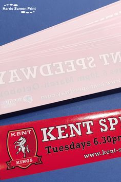 Kent Speedway car window stickers printed full colour and cut to rectangles with a vivid red background. Car Window Stickers, Car Stickers, Rear Window, Red Background, Custom Cars, Screen Printing, Colour, Printed, Screen Printing Press