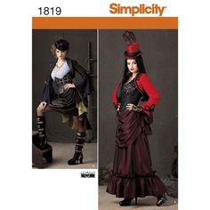 Misses' Victorian era Steampunk-inspired costume. Simplicity sewing pattern…