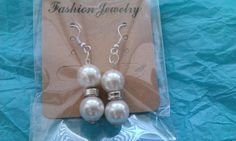 Pearl and silver beaded drops | Bronnley MISI Handmade Shop