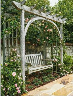 The wooden pergola is a good solution to add beauty to your garden. If you are not ready to spend thousands of dollars for building a cozy pergola then you may devise new strategies of trying out something different so that you can re Small Garden Pergola, Pergola Diy, Garden Arbor, Pergola Swing, Pergola Plans, Backyard Patio, Backyard Landscaping, Gazebo, Pergola Ideas
