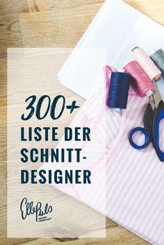 Es gibt so viele kleine kreative Schnittdesigner. In dieser Liste findest du über 300 Links zu Schnittmustershops überall auf der Welt.