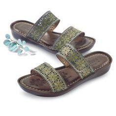 Floral Strap Sandals by Spring Step®