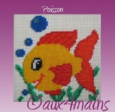 Fish hama perler by aux4mains
