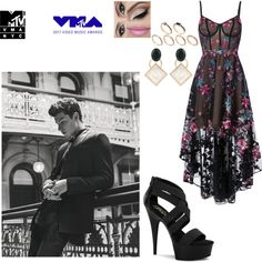 VMA 2017 with Shawn Mendes as his girlfriend by desdall on Polyvore featuring moda, Notte by Marchesa, Pleaser, Marni and ASOS