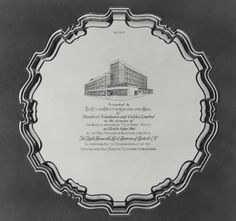 Engraved silver salver presented to Kingston upon Hull by STC on the opening of telephone house, 23 October 1964, to commemorate the diamond jubilee of the Kingston upon Hull municipal telephone undertaking. IET Archives NAEST 211/02/20/07 T.17