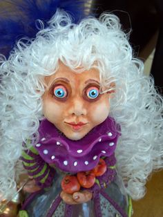 OOAK Original Mixed Media Art Doll - Garden Heart Wonderland Style