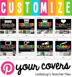 Ladybug's Teacher Files: Customize Your Covers on Pinterest
