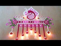 Beautiful Multi Colour Rangoli Designs with Colours - Easy and Simple Rangoli By Maya! - YouTube