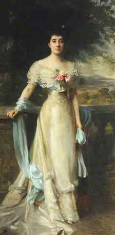 Portrait of Mrs Hanly, Mother of Gladys Consuelo Chichester Constable, 1906 by Frank Brooks (British 1854–1937)