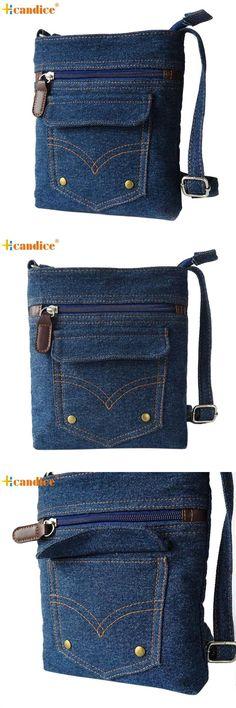 [Visit to Buy] Naivety 2016 New Fashion Lady Denim Handbag Women Messenger Hobo Bag Shoulder Bags Tote Purse JUL13 drop shipping #Advertisement