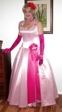Pink satin doll .