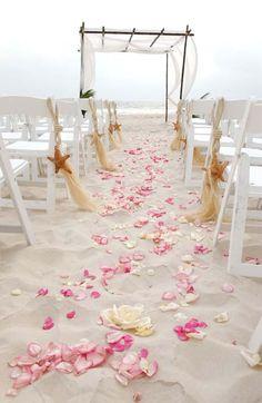 pink beach wedding aisle decor / www.deerpearlflow… pink beach wedding aisle decor / www. Wedding Aisle Decorations, Beach Wedding Reception, Beach Ceremony, Our Wedding, Dream Wedding, Beach Weddings, Simple Beach Wedding, Wedding Scene, Wedding Lanterns