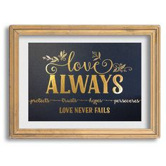 """Love Always"" 1 Corinthians 13 Art Print"