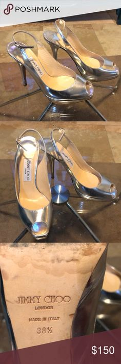 e687cb48d04 Shop Women s Jimmy Choo Silver size Platforms at a discounted price at  Poshmark. Cleaning out closet.