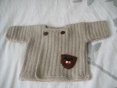 Gilet brassière bébé 3 mois au crochet