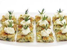 Crispy Zucchini and Potato Pancakes recipe from Giada De Laurentiis via Food Network