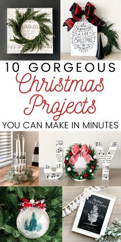 These are some of the easiest and most beautiful Christmas projects I've ever seen! Number 6 is a show-stopper! #christmascrafts #christmasprojects #christmas #christmasdiy #farmhousechristmas Diy Home Crafts, Diy Craft Projects, Fun Crafts, Crafts For Kids, Beautiful Christmas, Christmas Wreaths, Christmas Crafts, Christmas Decorations, Christmas Inspiration