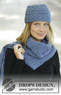 Northern Breeze / DROPS 192-53 - Gratis strikkeoppskrifter fra DROPS Design Knitting Gauge, Lace Knitting, Knitting Patterns Free, Knit Crochet, Drops Design, Head Band, Headband Pattern, Stockinette, Neck Warmer