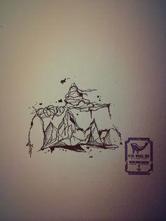 71510ea54 Line Tattoo Mountain From Blue Whale Ink Design by _park_tae_ Work In  Korea, Seoul, Hongdae Kakao: taemin0509 Insta: _park_tae_ Email:  hopetaemin@naver.com ...