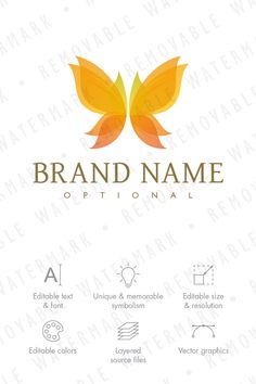 8306afae9299de Autumn Butterfly Logo Template