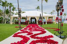 Rose petal art to le
