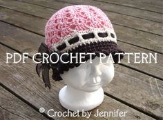Crochet Pattern for Katrina Cloche Hat - 5 sizes, baby to adult.... I have to find this in a knitting pattern...its darling!