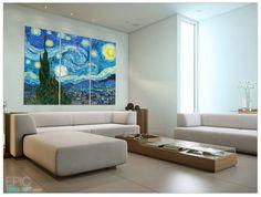 Starry Night By Van Gogh Epic Sized Canvas Wall Art Epicwallart