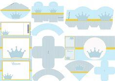 Corona Celeste: Imprimibles para Fiestas, Invitaciones y Cajas para Imprimir Gratis.
