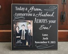 today a groom wedding gift for parent, groom parent gift, personalized parent of groom gift