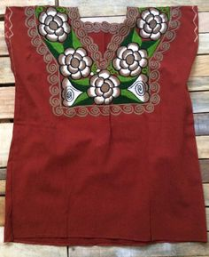 Mexican blouse, hand-embroidered robe, beautiful colorful Mexican hippie flowers, folk, cute Mexico