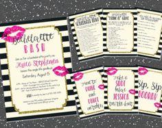 Printable bachelorette game/ bachelorette by PrettyPrintablesInk