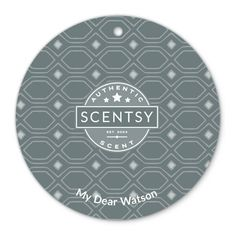 My Dear Watson Scentsy Scent Circle $3.  Refreshing bergamot contrasted with mint, cedar, and suede. Sophisticated and smart.