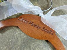 Engraved Wedding Hanger Handmade - Personalized Bride Hangers - Wedding Photo Props - No Wire Hangers - Name Hangers - Made in U S - Hangers