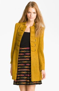 Gorgeous gold A-line coat from Nanette Lepore