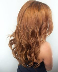 Golden copper hair color by Katie Peters