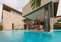Monsoon Retreat in India - Love the traditional decor within the modern architecture