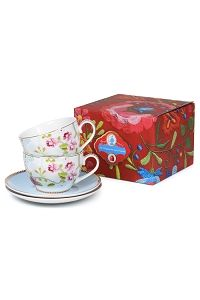 PiP Giftbox Chinese Rose Two Cup and Saucers