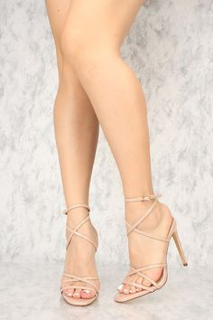 Buy Sexy Nude Crisscross Open Toe Single Sole High Heels Patent Faux Leather with cheap price and high quality Heel Shoes online store which also sales Stiletto Heel Shoes,High Heel Pumps,Womens High High Heel Pumps, Hot High Heels, Black Pumps Heels, Lace Up Heels, High Heel Boots, Womens High Heels, Stilettos, Stiletto Heels, Pointed Heels