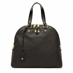 Yves Saint Laurent 368220 YSL Oversized Muse Black Leather Satchel Bag