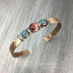 Rustic Brass Bracelet Boho Bracelet Handmade Brass by RococoRiche