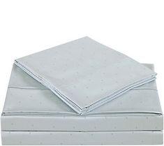 Charisma 310TC Classic Dot Cotton Queen Sheet Set