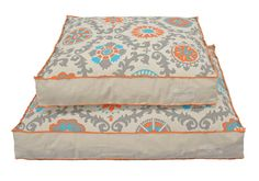 Turquoise Orange Grey Geometric Dog Bed Cover, Dog Furniture, Cat Furniture Washable Pet Bed Cover, Pet Beds for Dog or Cat, S M L by originaldigsllc. Explore more products on http://originaldigsllc.etsy.com